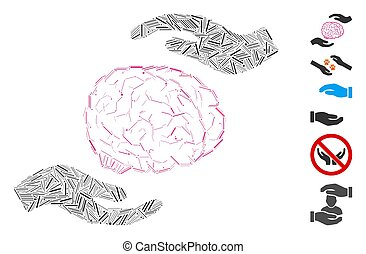 Dash Collage Brain Care Hands Icon