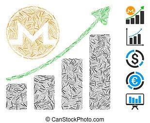 Dash Collage Monero Growth Graph Icon