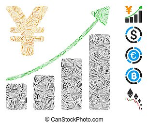 Dash Collage Yen Growth Graph Icon