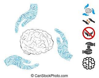 Dash Mosaic Brain Care Hands Icon