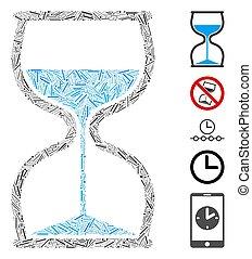 Dash Mosaic Hourglass
