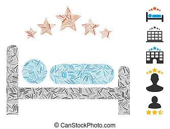 Dash Mosaic Star Hotel Bed Icon