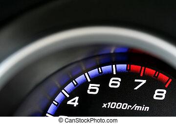 Dashboard - an illuminated car dashboard