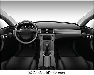Dashboard - car interior, made with gradient mesh