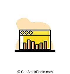 Dashboard Chart Icon Conceptual Vector Illustration Design