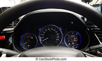 Dashboard controller status of hi-tech car