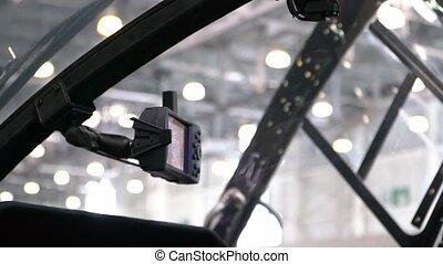 dashboard, helikopter, cockpit
