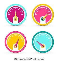 Dashboard Icons. Vector Fuel Symbols Set Isolated on White Background.