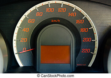 Dashboard Mile - Close up of car dashboard with speed and ...