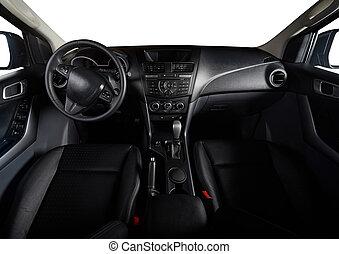 Dashboard of modern pickup trunk