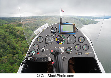 Dashboard of the flying autogyro