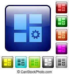 Dashboard settings color square buttons