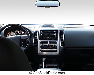 Dashboard - View of the interior of a modern automobile...