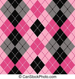 Dashed Argyle in Pink
