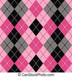 Dashed Argyle in Pink