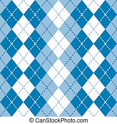 Dashed Argyle_Blue-White
