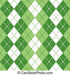 Dashed Argyle_Green-White