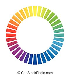 Dashed Circle Rainbow Colored Wheel