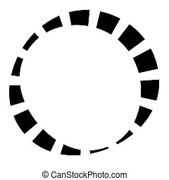 Dashed lines spiral, swirls, and twirls. Concentric, and circular volute, helix vector element ? Stock vector illustration, Clip art Graphics
