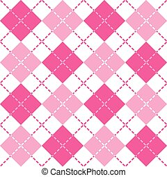 Dashed Pink Argyle