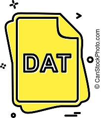 dat, pořadač, litera, ikona, design, vektor