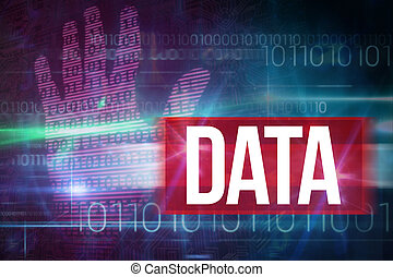 Data against blue technology design with binary code