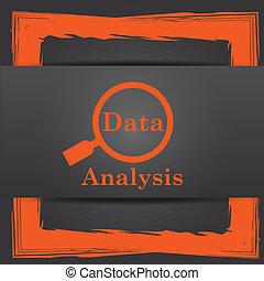 data, analys, ikon