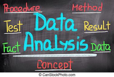 data, analyse, begreb