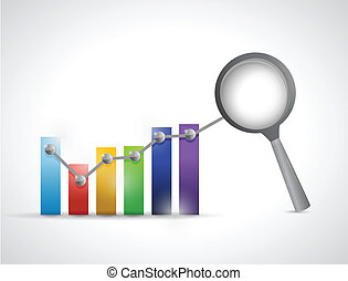 data analysis business graph illustration design