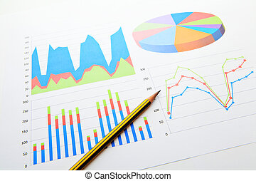 Data analysis chart and graphs