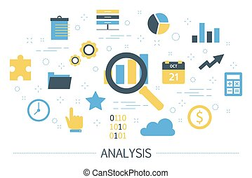 Data analysis concept. Idea of business information research