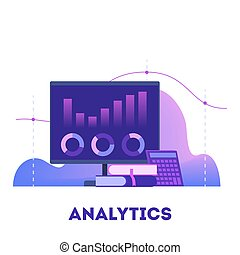 Data analysis concept. Idea of business strategy