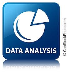 Data analysis (graph icon) blue square button