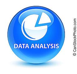 Data analysis (graph icon) glassy cyan blue round button