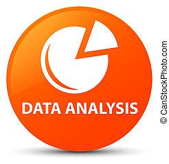 Data analysis (graph icon) orange round button