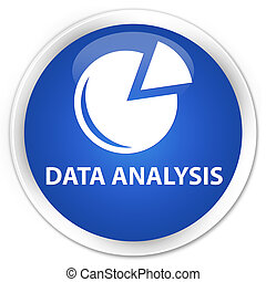 Data analysis (graph icon) premium blue round button
