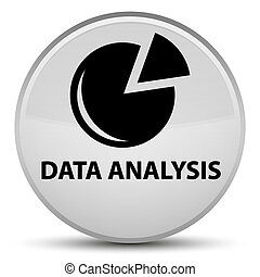 Data analysis (graph icon) special white round button