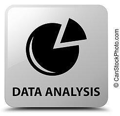 Data analysis (graph icon) white square button