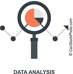 Data Analysis icon concept