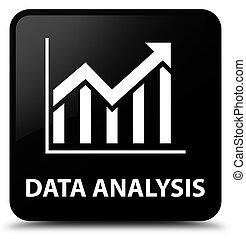 Data analysis (statistics icon) black square button