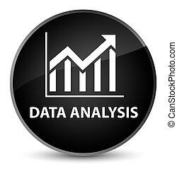 Data analysis (statistics icon) elegant black round button