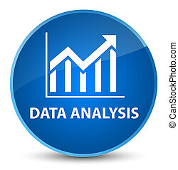 Data analysis (statistics icon) elegant blue round button