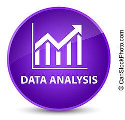 Data analysis (statistics icon) elegant purple round button