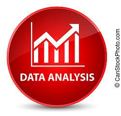 Data analysis (statistics icon) elegant red round button