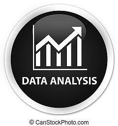 Data analysis (statistics icon) premium black round button