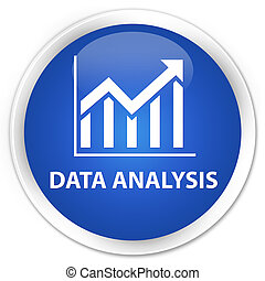 Data analysis (statistics icon) premium blue round button