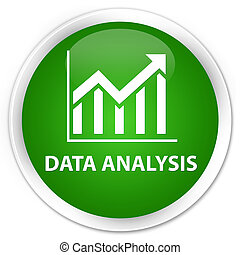 Data analysis (statistics icon) premium green round button