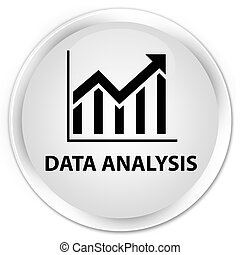 Data analysis (statistics icon) premium white round button