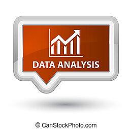 Data analysis (statistics icon) prime brown banner button