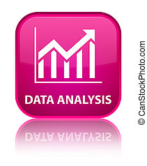Data analysis (statistics icon) special pink square button